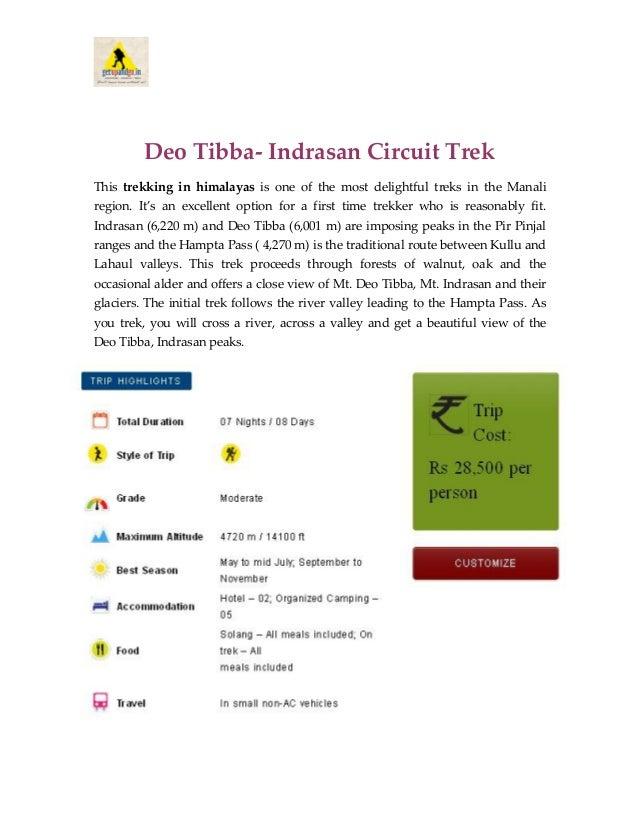 Deo Tibba-Indrasan Circuit Trek