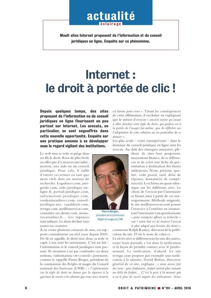 actualité   éclairage                       Moult sites Internet proposent de l'information et du conseil                 ...
