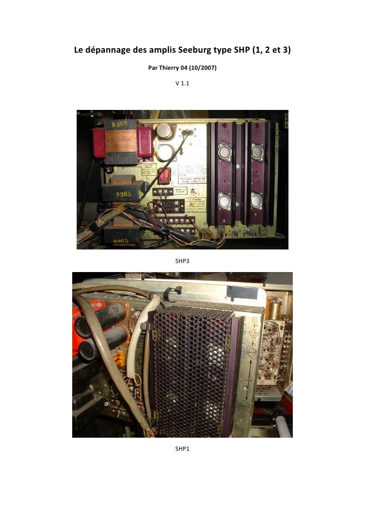 LedépannagedesamplisSeeburgtypeSHP(1,2et3)                      ParThierry04(10/2007)                      ...