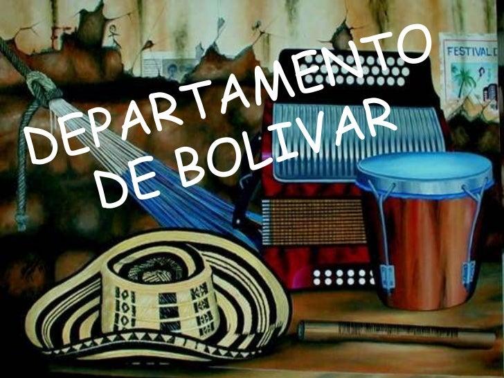 DEPARTAMENTO DE BOLIVAR<br />
