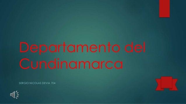 Departamento del Cundinamarca SERGIO NICOLAS DEVIA 704