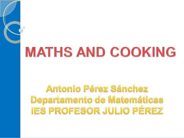 Maths & Cooking