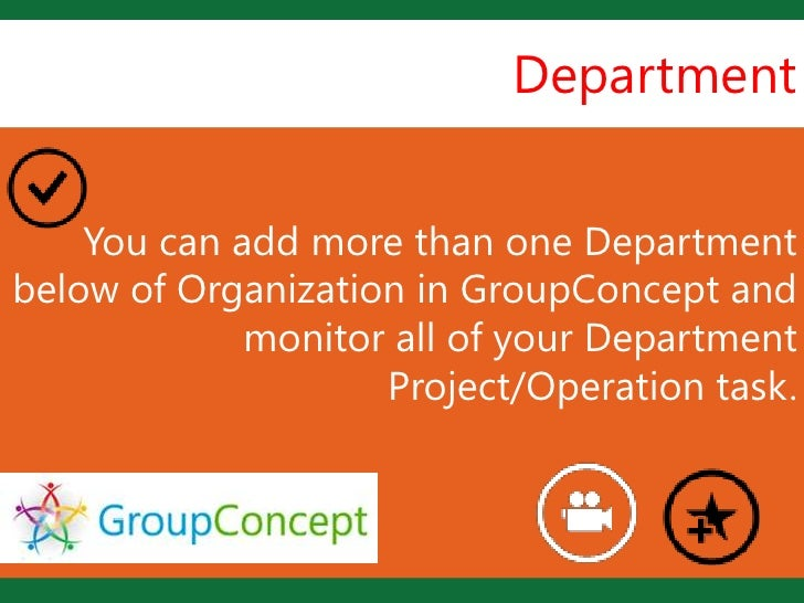 Department    You can add more than one Department                     Lbelow of Organization in GroupConcept and         ...