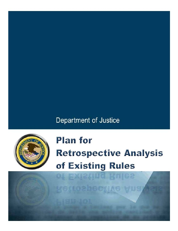 DOJ Regulatory Reform Plan August 2011