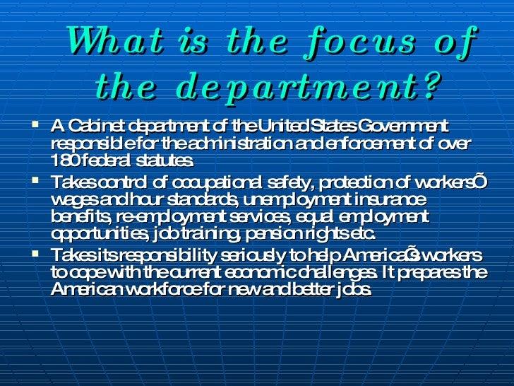 Department Of Labor Presentation