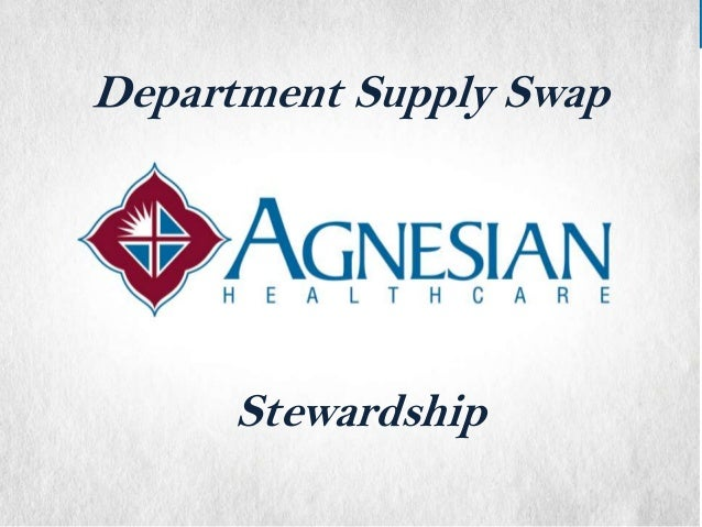 Department Supply Swap  Stewardship