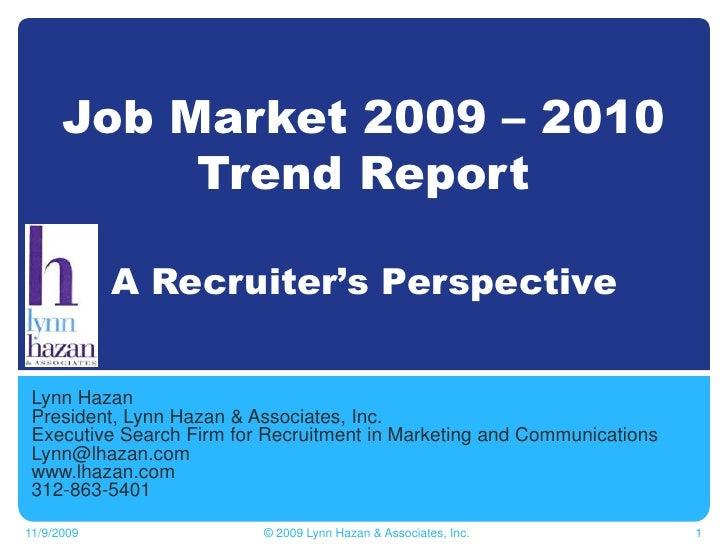Job Market Trend Report 2009-10