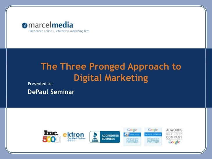 3 Prong Approach to Digital and Social Marketing