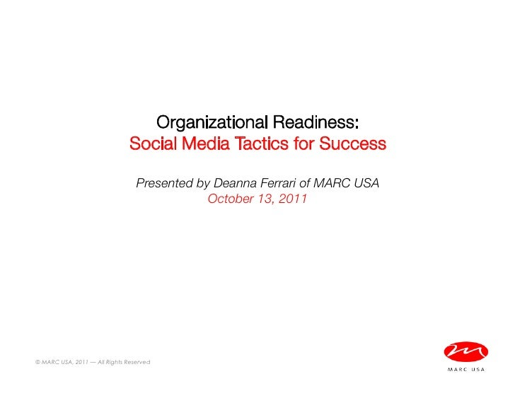 Organizational Considerations Before Launching in Social