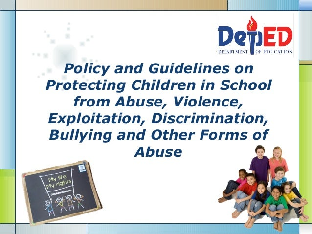 Anti Discrimination Policy Template Deped Child Protection Policy