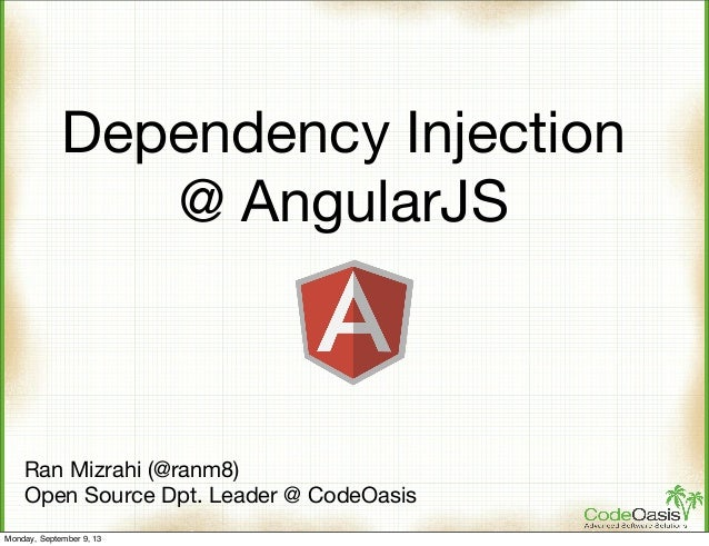 Dependency Injection @ AngularJS