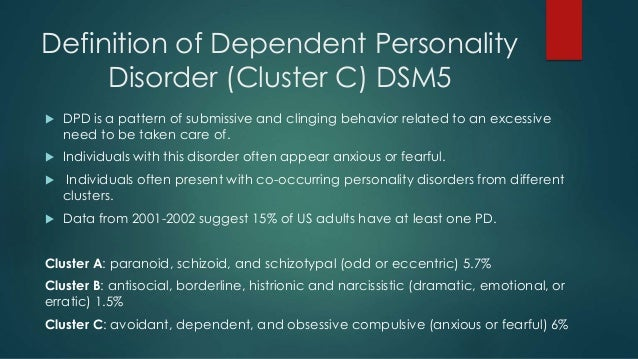 Hookup Someone With Dependent Personality Disorder