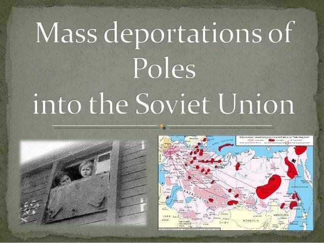Depertations into the Soviet Union