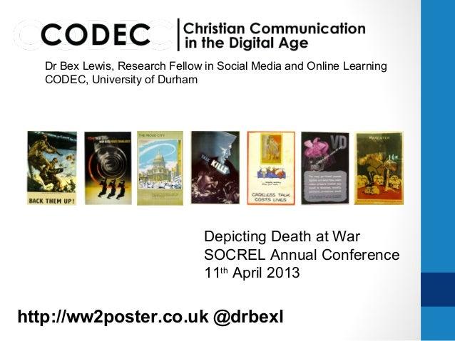Depicting death at war  #SOCREL13