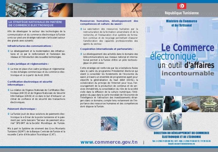 Depliant e-commerce Tunisie
