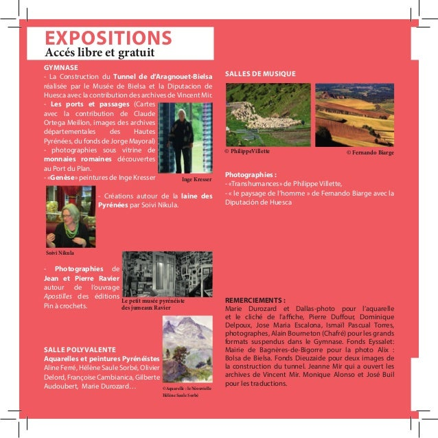EXPOSITIONS GYMNASE - La Construction du Tunnel de d'Aragnouet-Bielsa réalisée par le Musée de Bielsa et la Diputacion de ...