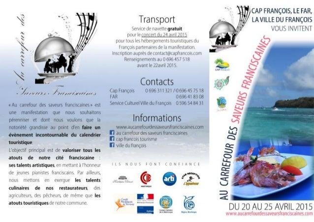 Programme « Au carrefour des saveurs franciscaines »