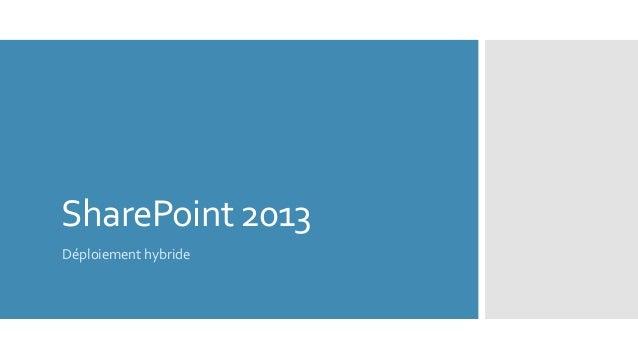 Deploiement hybride - SharePoint 2013