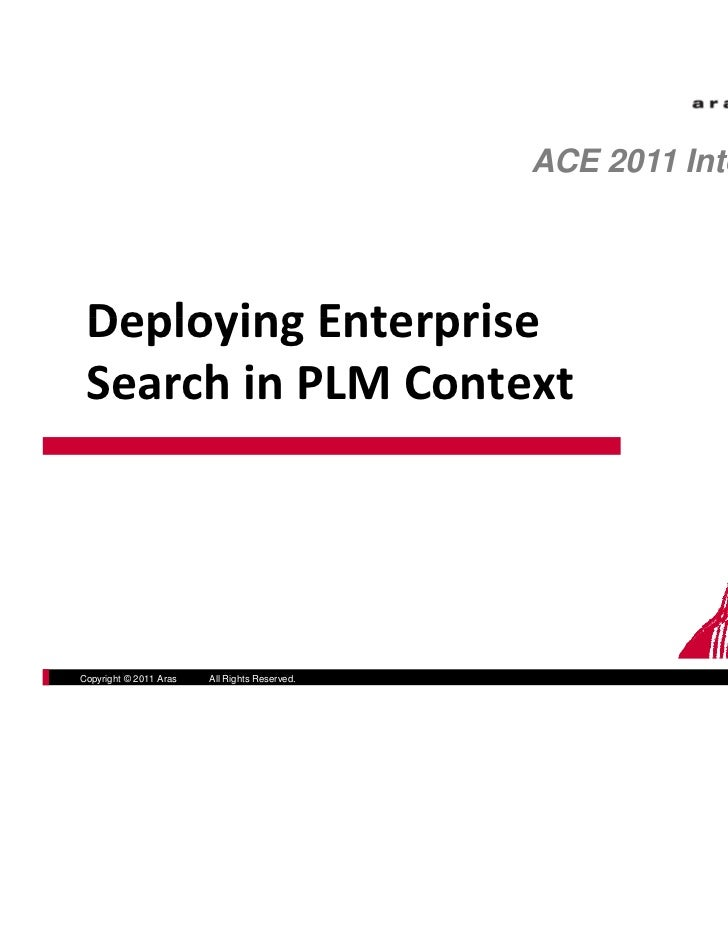 Deploying Enterprise Search in PLM Context with Aras