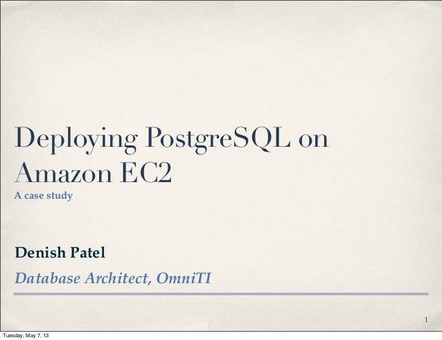 Deploying postgre sql on amazon ec2