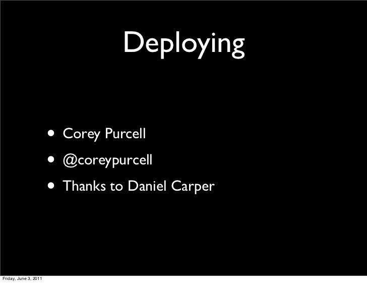 Deployment presentation