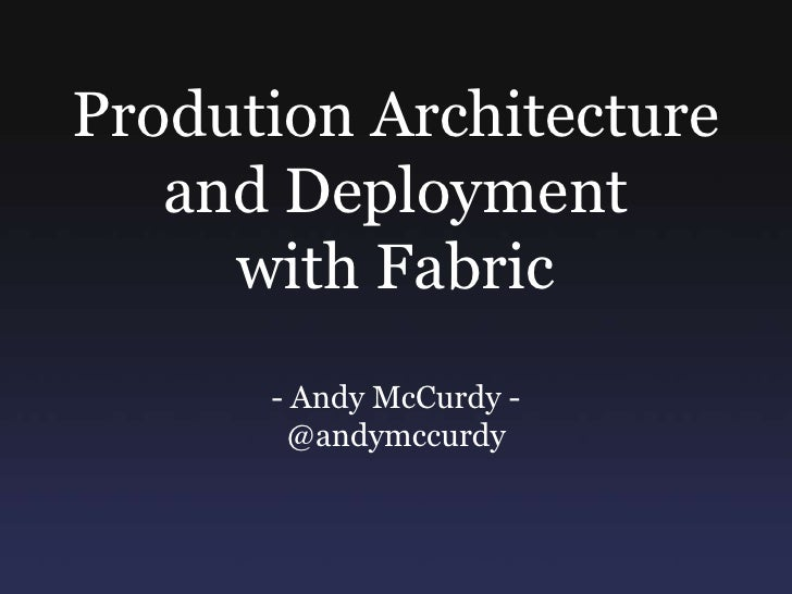 Deployment with Fabric