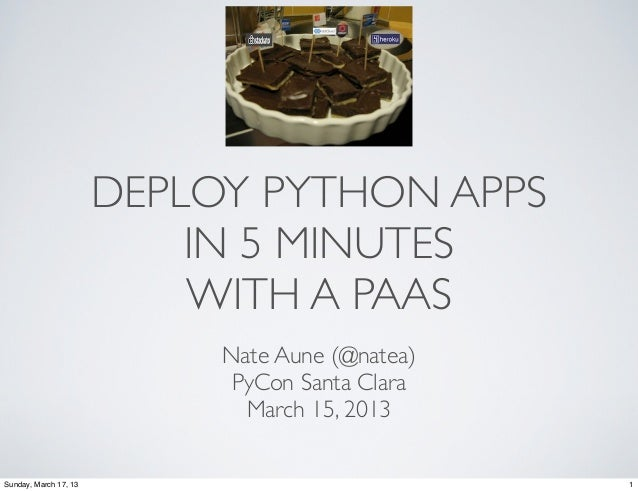 DEPLOY PYTHON APPS                           IN 5 MINUTES                           WITH A PAAS                           ...