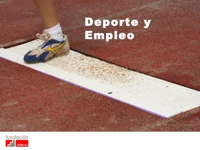 Deporte y Empleo