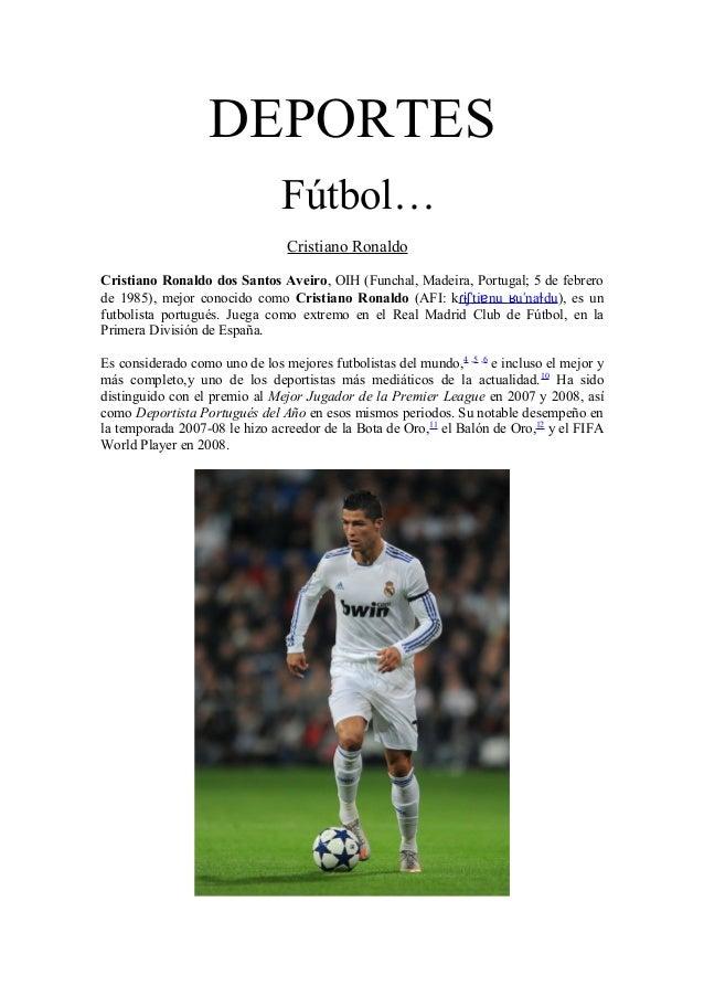 DEPORTES                                Fútbol…                                Cristiano RonaldoCristiano Ronaldo dos Sant...