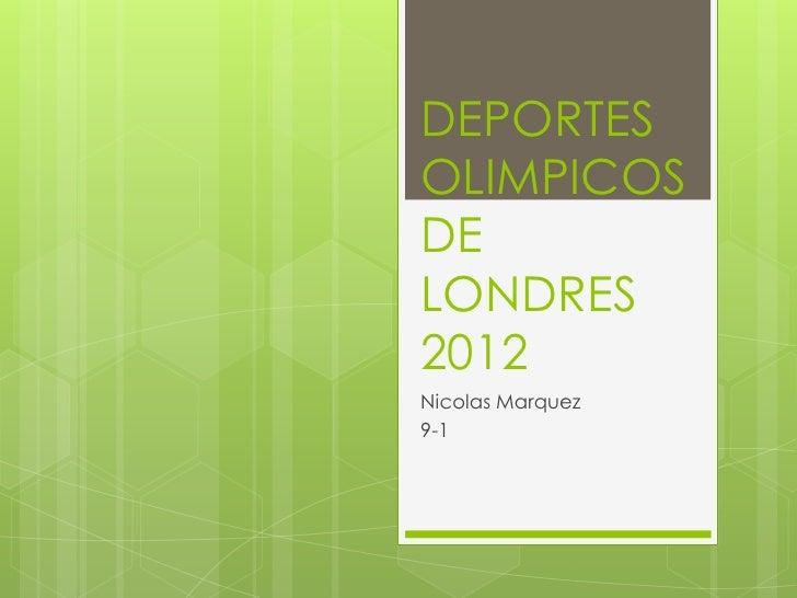 Deportes olimpicos de londres 2012