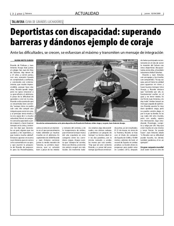 Deportistas con discapacidad