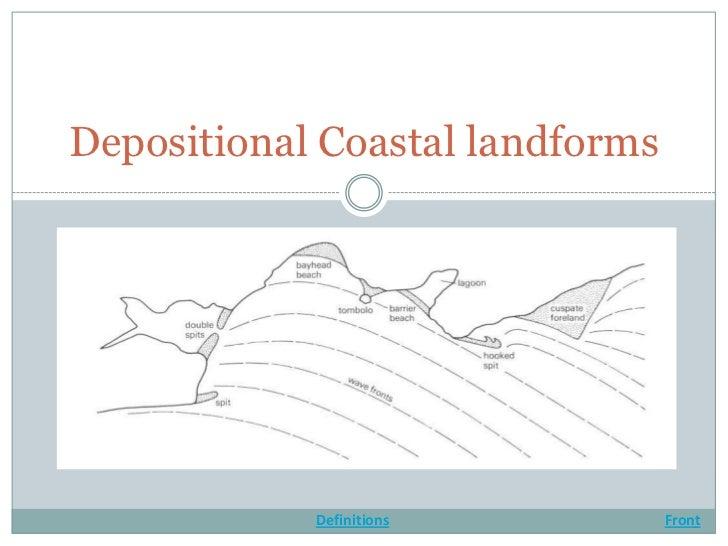 Depositional coastal landforms