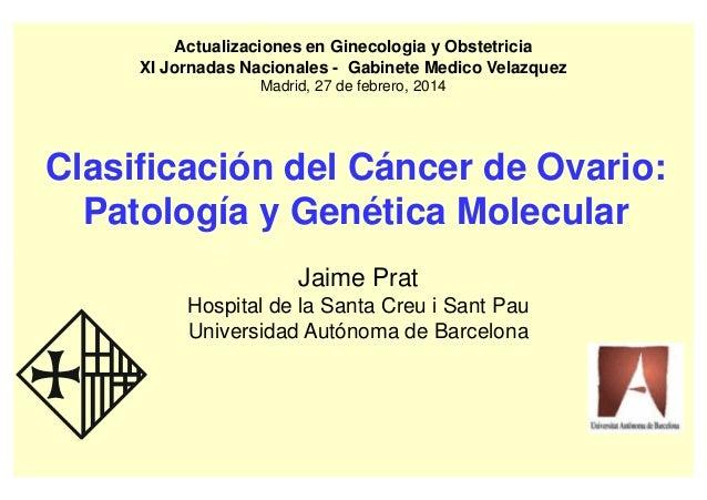 Clasificación histopatológica del cáncer de ovario