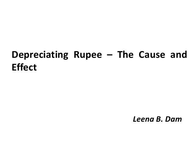 Depreciating Indian rupee