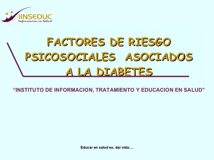 Depresion, etress  y diabetes