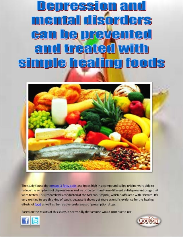 Depression and mental disorders can be prevented and treated with simple healing foods