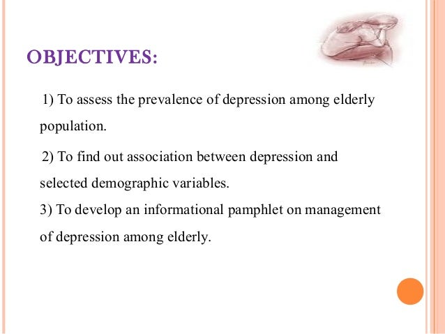 Depression in elderly people research papers
