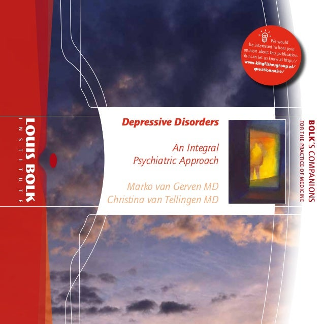 Depressive disorders   an integral psychiatric approach