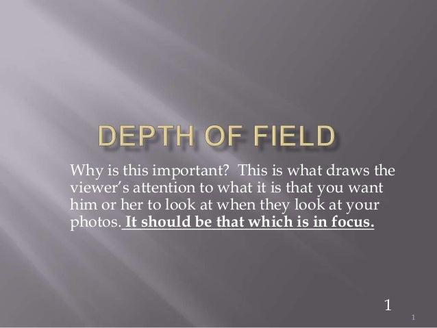 Depth of field 1
