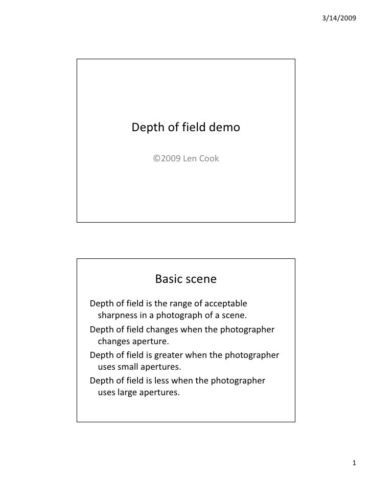 Depth Of Field Demo