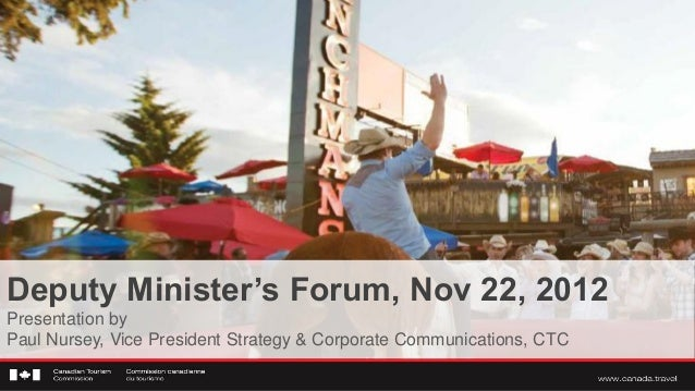 Deputy Ministers Forum, November 2012