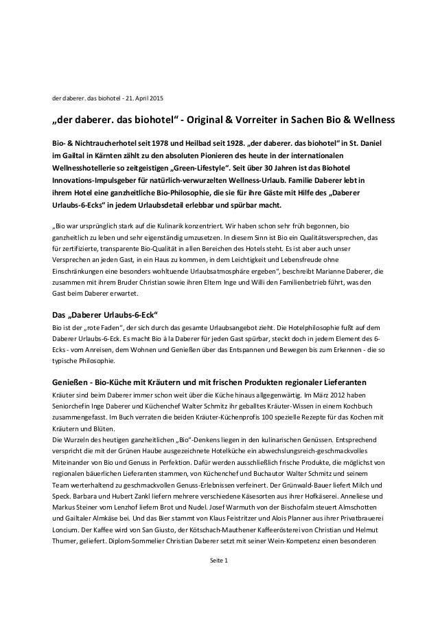 "Seite  1   der  daberer.  das  biohotel  -‐  21.  April  2015      ""der  daberer.  das  bioho..."