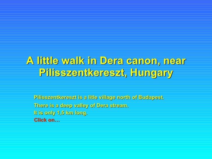 A little walk in Dera canon, near Pilisszentkereszt, Hungary Pilisszentkereszt is a litle village north of Budapest.   The...