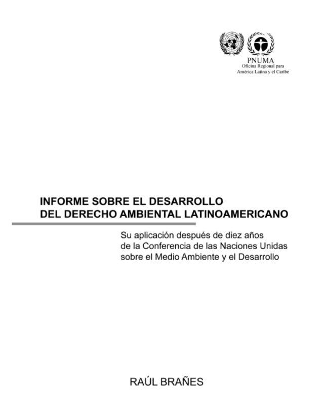 Primera edición: 2001 © Programa de las Naciones Unidas para el Medio Ambiente Oficina Regional para América Latina y el C...