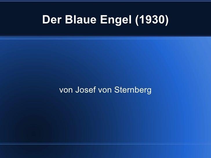 Der Blaue Engel (1930) von Josef von Sternberg