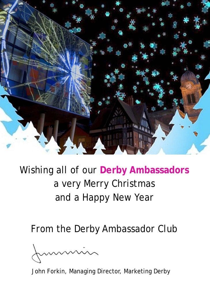 Derby ambassador christmas card