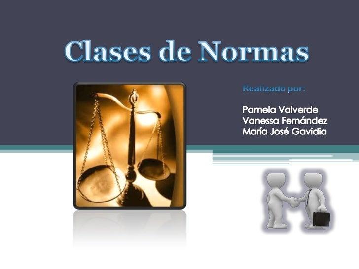 Clases de Normas - Derecho