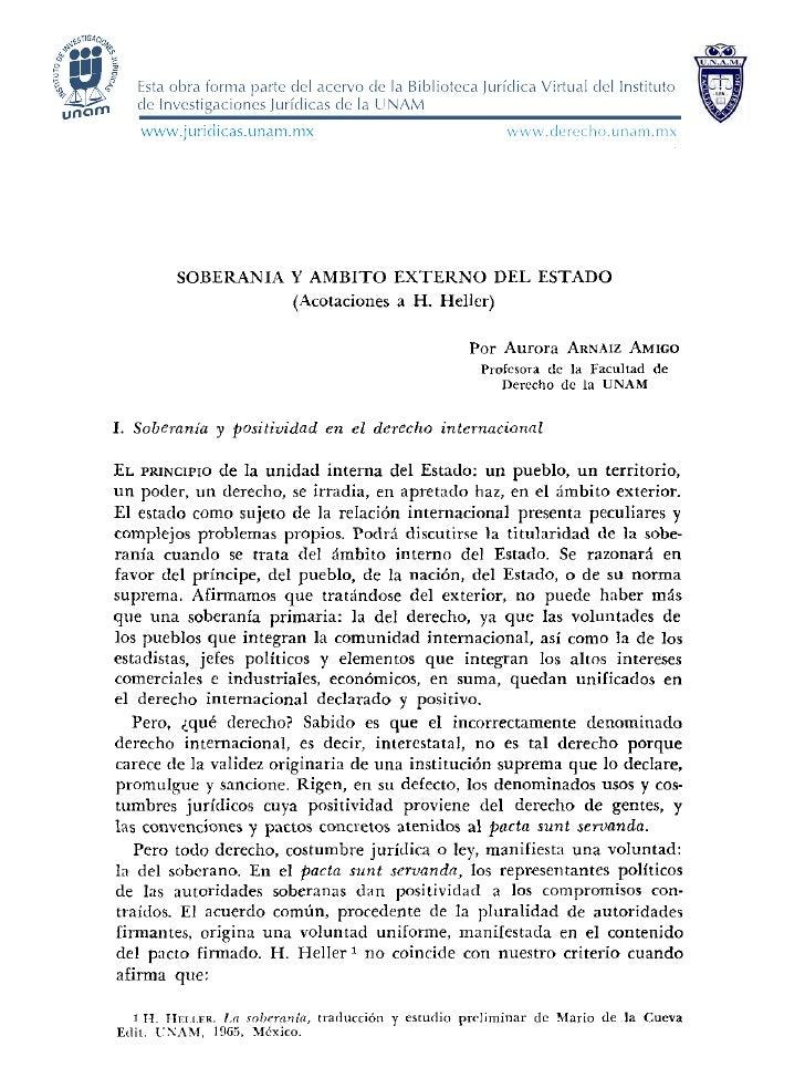 www.derecho.unam.mx         SOBERANIA Y AMBITO EXTEKNO DEL ESTADO                   (Acotaciones a H. Heller)             ...