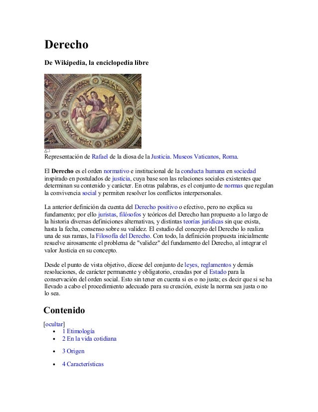 Derecho De Wikipedia, la enciclopedia libre Representación de Rafael de la diosa de la Justicia. Museos Vaticanos, Roma. E...