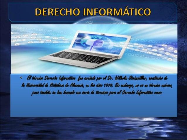 Derecho telemático D. De las nuevas tecnologías Derecho del internet iuscibernetíca Derecho del espacio DERECHO INFORMATIC...